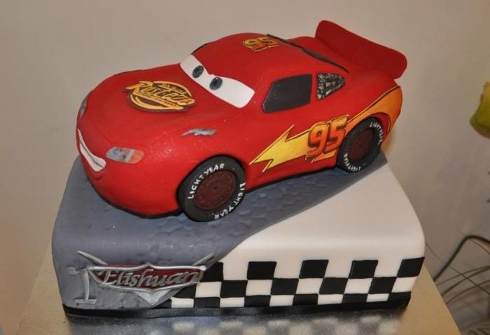 Lighting Mcqueen Car Cake